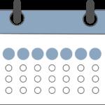 Calendario indicando primera semana del mes
